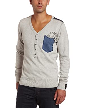 Men's Porter Granddad Knit Long Sleeve Henley Shirt