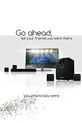 Sharper Image 5.1 Home Theater Sound System With Bluetooth Subwoofer, Sound Bar & Satellite Speakers (Black)