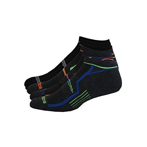 Saucony Men's Multi-Pack Performance Comfort Fit No-show Socks Gray Large