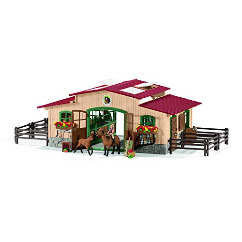 (Schleich Stable with Horses & Accessories)