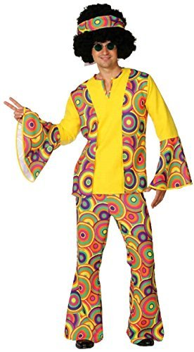 Mens 1960s 1970s Colourful Sixties 60s 70s Bright