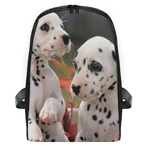 (Dalmatian Dog In The Fall School Backpack For Boys Kids Preschool School Bag Toddler Bookbag)