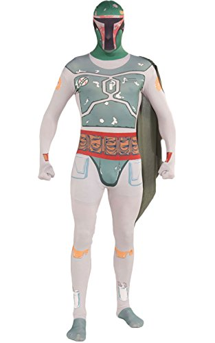 Rubie's Costume Star Wars Boba Fett 2nd Skin Full Body Suit, Multicolor, Medium Costume (Boba Fett Suit For Sale)