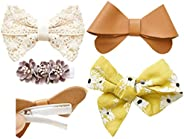 California Tot Strong and Safe Fully Lined Alligator Bow Hair Clips Barrettes for Toddler, Little Girls, Mixed