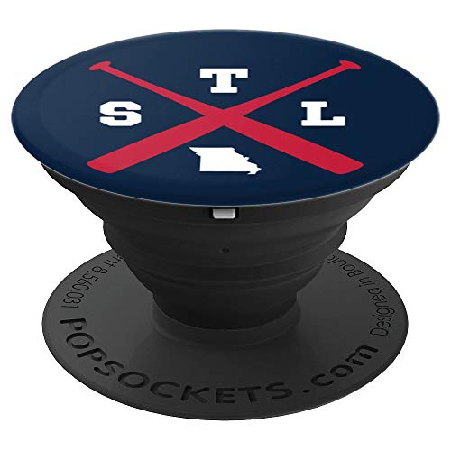 (Cool St. Louis Baseball Bats Missouri Outline PopSocket - PopSockets Grip and Stand for Phones and Tablets)