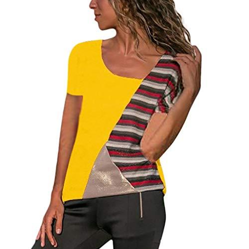 (Dressin Cold Shoulder Short/Long Sleeve Cold Shoulder Tops T Shirts V Neck Tunics Casual Loose Blouses)