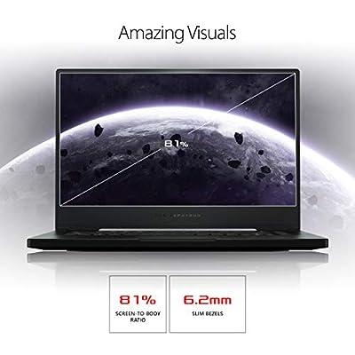 "ROG Zephyrus S Thin and Portable (2019) Gaming Laptop, 15.6"" 240Hz G-SYNC FHD IPS, GeForce RTX 2070, i7-9750H, 16GB DDR4 RAM, 1TB PCIe Hyper Drive SSD, Per-Key RGB, Windows 10 Pro, GX502GW-XB76"