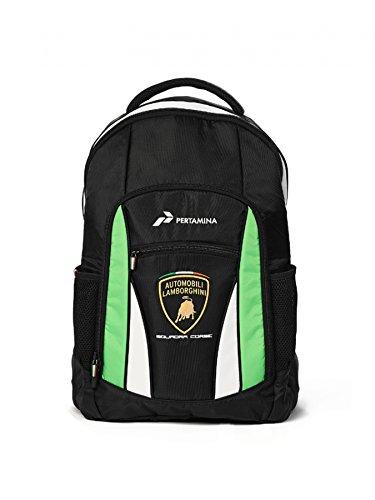 Automobili Lamborghini Accessories Sq. Corse Lamborghini Backpack One Size Black by LAMBORGHINI