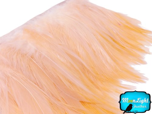 Project M All Special Costumes (Rooster Tails, Peach Rooster Neck Hackle Feather Trim - 1 Yard)
