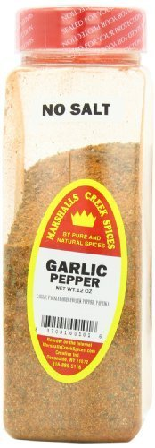 Marshalls Creek Spices Marshalls Creek Spices Garlic Pepper Seasoning, No Salt, 12 Ounce by Marshall's Creek Spices, 12 Ounce