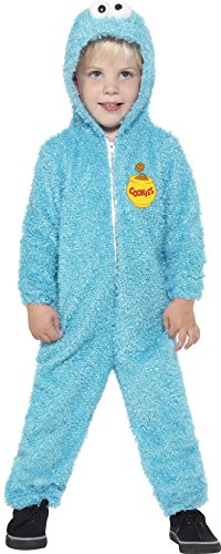 Smiffy's Toddler's Sesame Street Cookie Monster Costume, All-in-one Suit, (Cookie Monster Halloween Costume Uk)