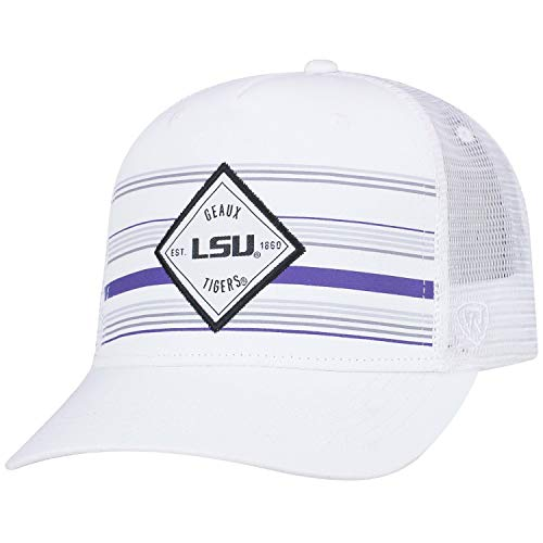 Top of the World LSU Tigers Tow White 36th Ave Mesh Adj. Snapback Hat Cap