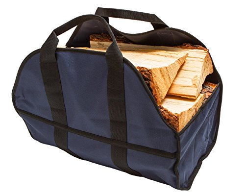 - Egooz Large Firewood Log Carrier, Durable Canvas Tote Bag for Carrying Wood - Simple, Easy use, Close End - keeps mess inside the carrier, 24