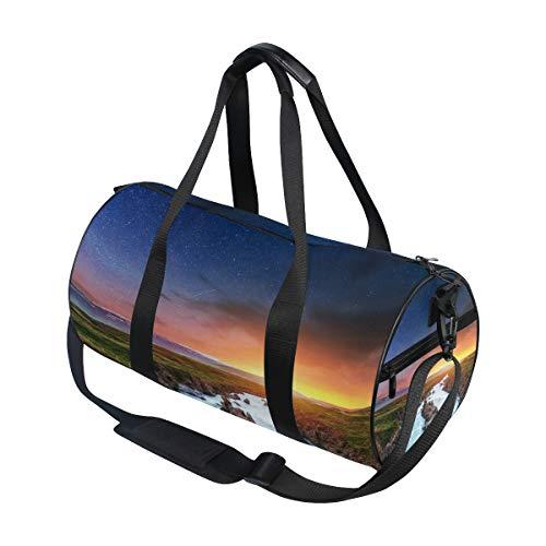 Sports Duffel Bags Nature Landscape Scenic Travel Gym Shoulder Bag Tote Handbag Backpack for Men Women Kids Boy Girl