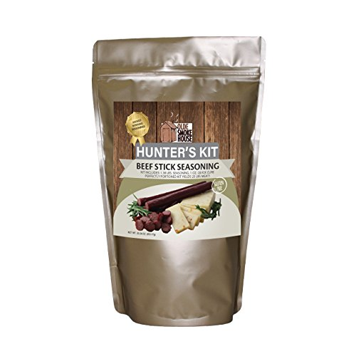 Hunter's Kit (Beef Stick Seasoning, 23.04). Kit includes 1.38 lb. seasoning, 1 oz. Quick Cure. Excellent for curing or preserving pork, beef and wild game meats. (Curing Kit)