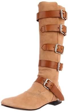 Vivienne Westwood Women's Pirate Flat Boot,Burlywood,36 EU/5.5 M US