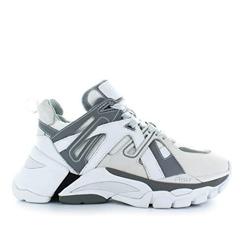 Blanc Gris Ash Baskets Chaussures Et Femme Flash 7wIBqgw