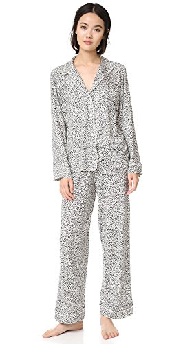 Eberjey Women's Sleep Chic PJ Set, Mink Puff, Medium