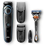 Braun BeardTrimmer BT5040 Beard Trimmer & Hair Clipper, Black/Blue