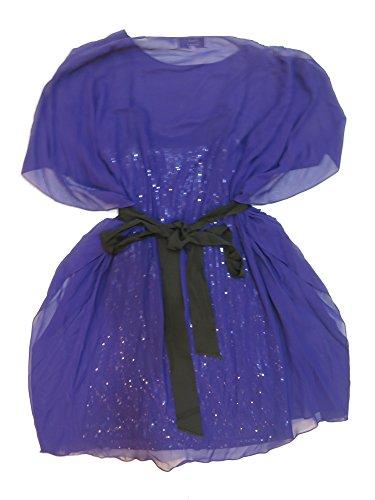 Price comparison product image Badgley Mischka Purple Cape Sleeve Dress S