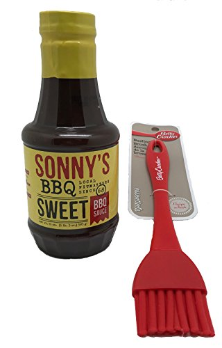 Buy SONNY'S SWEET Real Pit Barbecue Sauce 21 Oz Bottle with Basting Brush