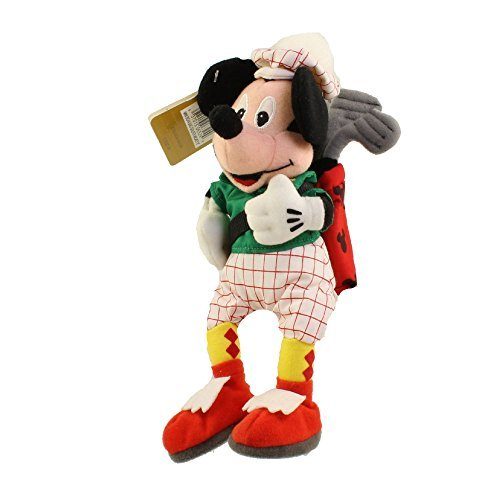 "Disney 9"" Plush Golf Bean Bag Golfing Mickey Mouse Golfer Doll"