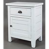 Accent Table in Weathered White Finish