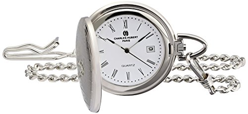 Charles-Hubert, Paris 3975 Classic Collection Analog Display Japanese Quartz Pocket Watch