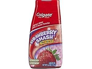 Colgate Fluoride Toothpaste Strawberry Smash Liquid Gel 4.60 oz ( Pack of 2)