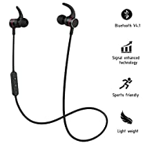 Bluetooth Headphones, Wireless Sports Stereo Earphones, Magnetic Wireless Earbuds with Mic, Super Sound Quality Bluetooth 4.1, Secure Fit Design