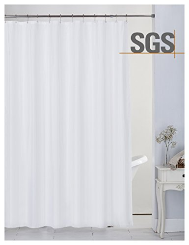 home queen Mold Resistant Shower Curtain,Anti-Mildew Heavy Duty Liner,Waterproof Bathroom Curtain Liner,72 W x 72 L Inches-White by home queen (Image #7)