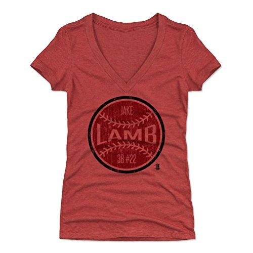 500 LEVEL Jake Lamb Women's V-Neck Shirt XX-Large Tri Red - Arizona Baseball Women's Apparel - Jake Lamb Arizona Ball R