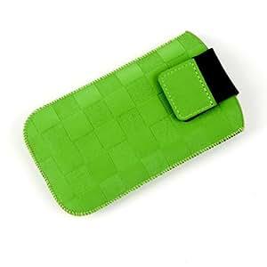 NFE² funda abierto–Verde–Con Tirador y plano para cinturón para Sony Ericsson W960I