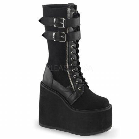 Demonia Gothika-100 - gotica Steampunk plataforma botas zapatos de tacón mujer - tamaño 36-43, US-Damen:EU-40/41 / US-10 / UK-7