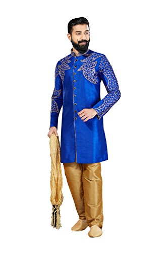 Kurta Pajama For Men Indian Designer Wedding Partywear Royal Outfit Traditional Ethnic India Dress by daindiashop-USA