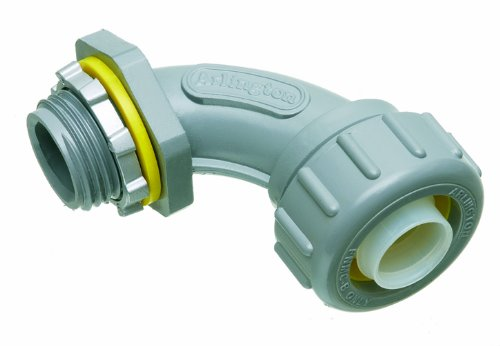 Arlington NMLT9050-1 90 Degree Non-Metallic Liquid-Tight Connector, 1/2 (90 Degree Liquid Tight Conduit)