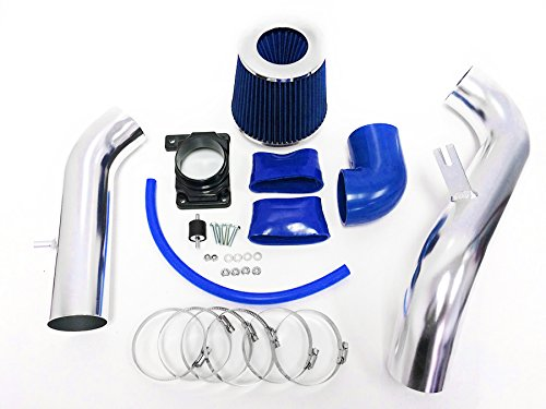 2000-2005 Mitsubishi Eclipse 2.4L L4 3.0L V6 Cold Air Intake Kit + Filter (Blue) (Mitsubishi Eclipse Gt Coupe)