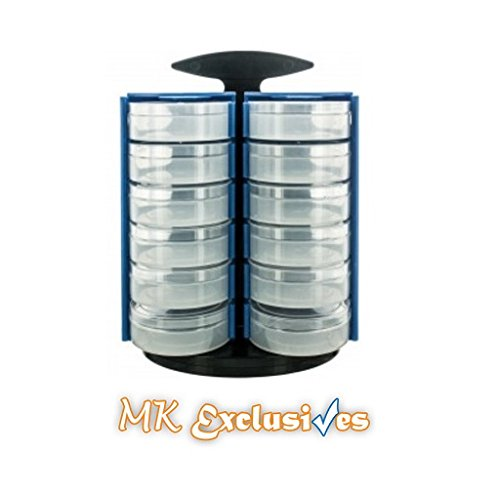 Art Caddy Spinning Storage Tower – Great for Organizing Office Supplies, Arts and Crafts, Makeup and (Craft Organizing)