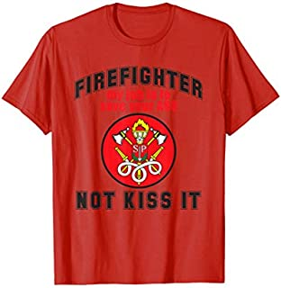 Cool Gift Firefighter Im Here to Save Your Ass Tee firefighter t shirt Women Long Sleeve Funny Shirt / Navy / S - 5XL