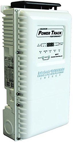 Magnum PT-100 Solar Cell Charge Controller, Designed to work with a Magnum Panel (MP) or Mini-Magnum Panel (MMP), MPPT Maximum Power Point Tracking technology for increased PV power output efficiency by Magnum
