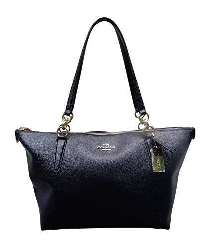 Coach Crossgrain Leather AVA Tote Bag Handbag, Midnight (Discount Purse Designer)