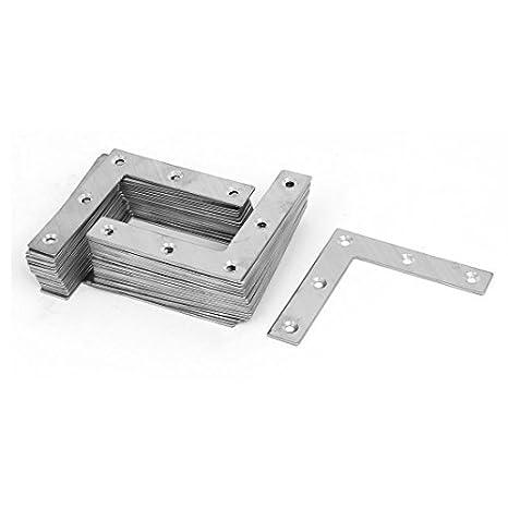 eDealMax 80 mm x 80 mm Ángulo de Soporte de fijación L plano reparación Forma Mending Placas 40PCS - - Amazon.com