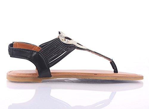 Moda Casual Gladiatore Sexy T-strap Slip On Solo Scarpe Da Donna Sandali Strappy Scarpe Nuove Senza Scatola Nera