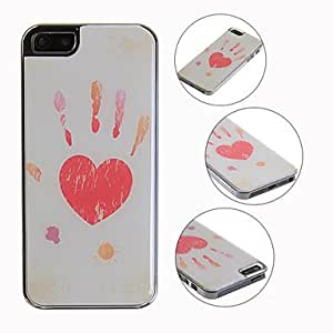 HP-Diseño especial del corazón y huella de la mano para el iPhone 5/5S