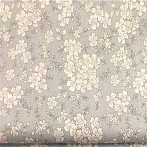 (Pukido Graceful 50x160cm 3 Colors Japanese Sakura Cherry Blossom Flower Printed 100% Cotton Fabric Floral Fabric for DIY Sewing Bedding - (Color: Grey))