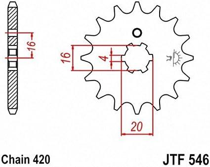 JT Sprockets JTF546.13 13T Steel Front Sprocket