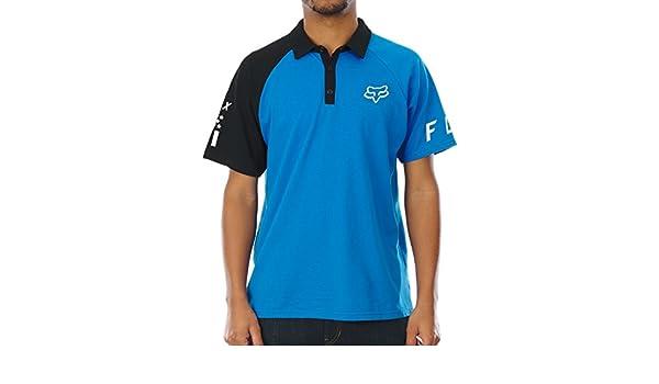 Polo Fox Switched On - Yamaha Negro-Azul (L, Negro): Amazon.es ...