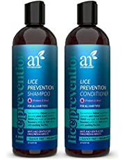 ArtNaturals Lice Prevention Shampoo and Conditioner (2 x 16 Fl Oz / 473ml) - with Rosemary & Tea Tree - Lice Shield for Adults & Kids - Safe for Daily Use - Sulfate & Paraben Free - All Hair Types