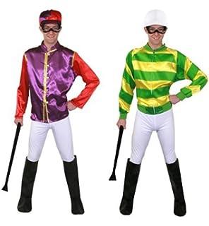 Herren Erwachsene Grun 4 Stuck Jockey Pferderennen Uniform Sport