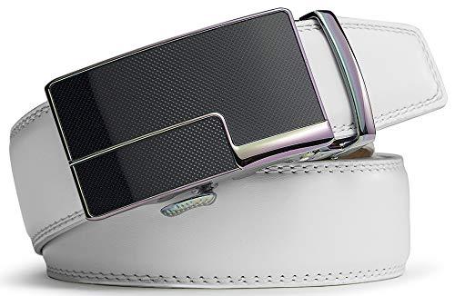 Bianca1223 dimensioni Pelle Uomo Per 35mm Regolabili Bulliant Cintura Automatico qw4nZ81